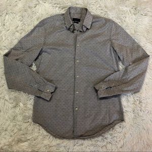 Zara Man Slim Fit Shirt size Medium Gray